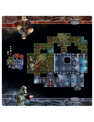 STAR WARS IMPERIAL ASSAULT SKIRMISH MAP - TRAINING GROUND