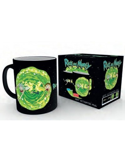 RICK Y MORTY TAZA PORTAL ( Sensitiva al Calor )