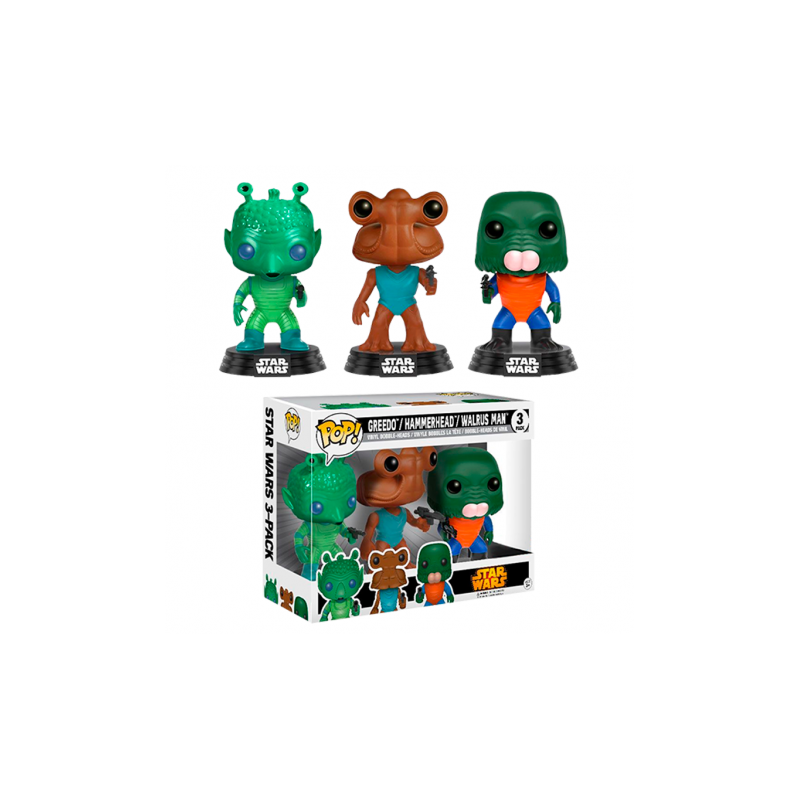 POP! STAR WARS - GREEDO, HAMMERHEAD & WALRUS