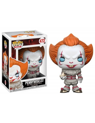 POP! MOVIES IT - PENNYWISE WITH BOAT