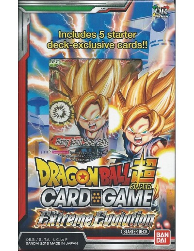 DB SUPER CARD GAME - THE EXTREME EVOLUTION STARTER DECK