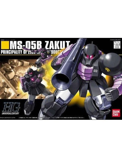 1/144 HGUC ZAKUI BLACK TRI STARS MS-05B