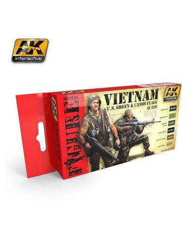 AK - PACK DE PINTURA VERDE U.S. VIETNAM Y CAMUFLAJE