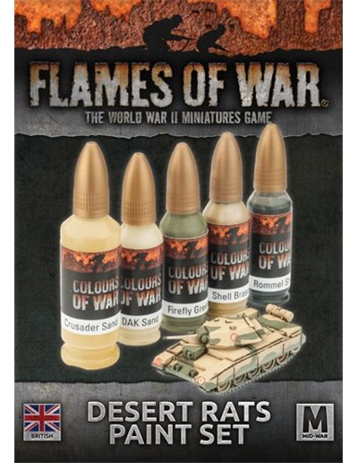 FLAMES OF WAR - PACK DE PINTURA DESERT RATS