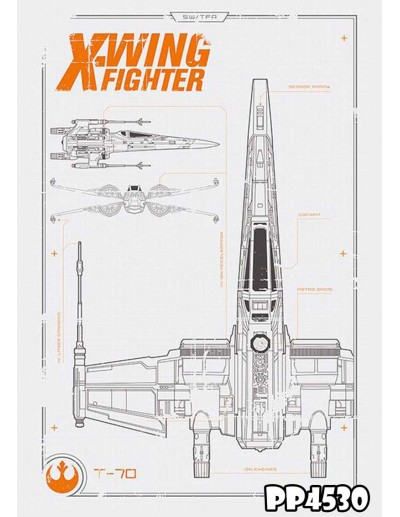 POSTER STAR WARS T-70 PLANS...