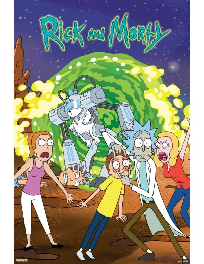 Póster Rick & Morty Portal...