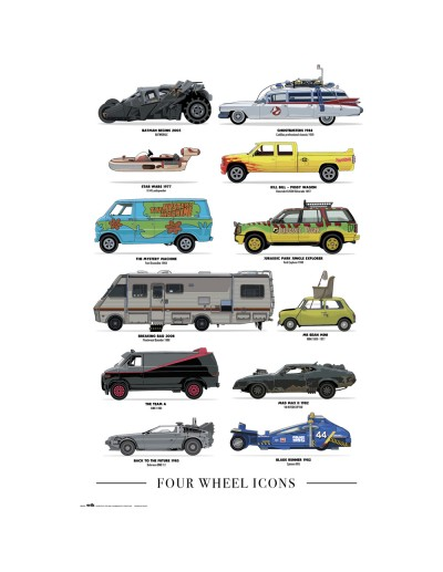 Películas Four Wheel Icons...