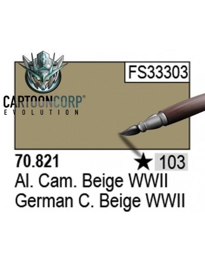 103 - 70821 - ALEMAN CAMUFLAJE BEIGE WWII